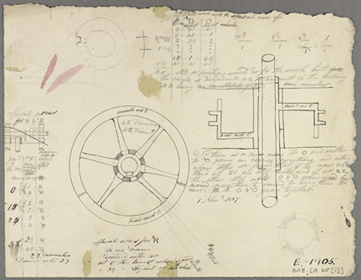 "Babbage's ""scribbling"" book"