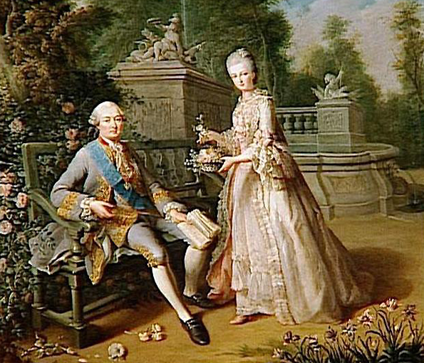 18th century aristocrats enjoying chocolate